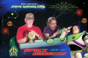 Us on Buzz Lightyear