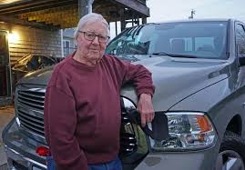 old man and truck